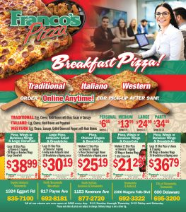 Franco's Breakfast Pizza Coupons