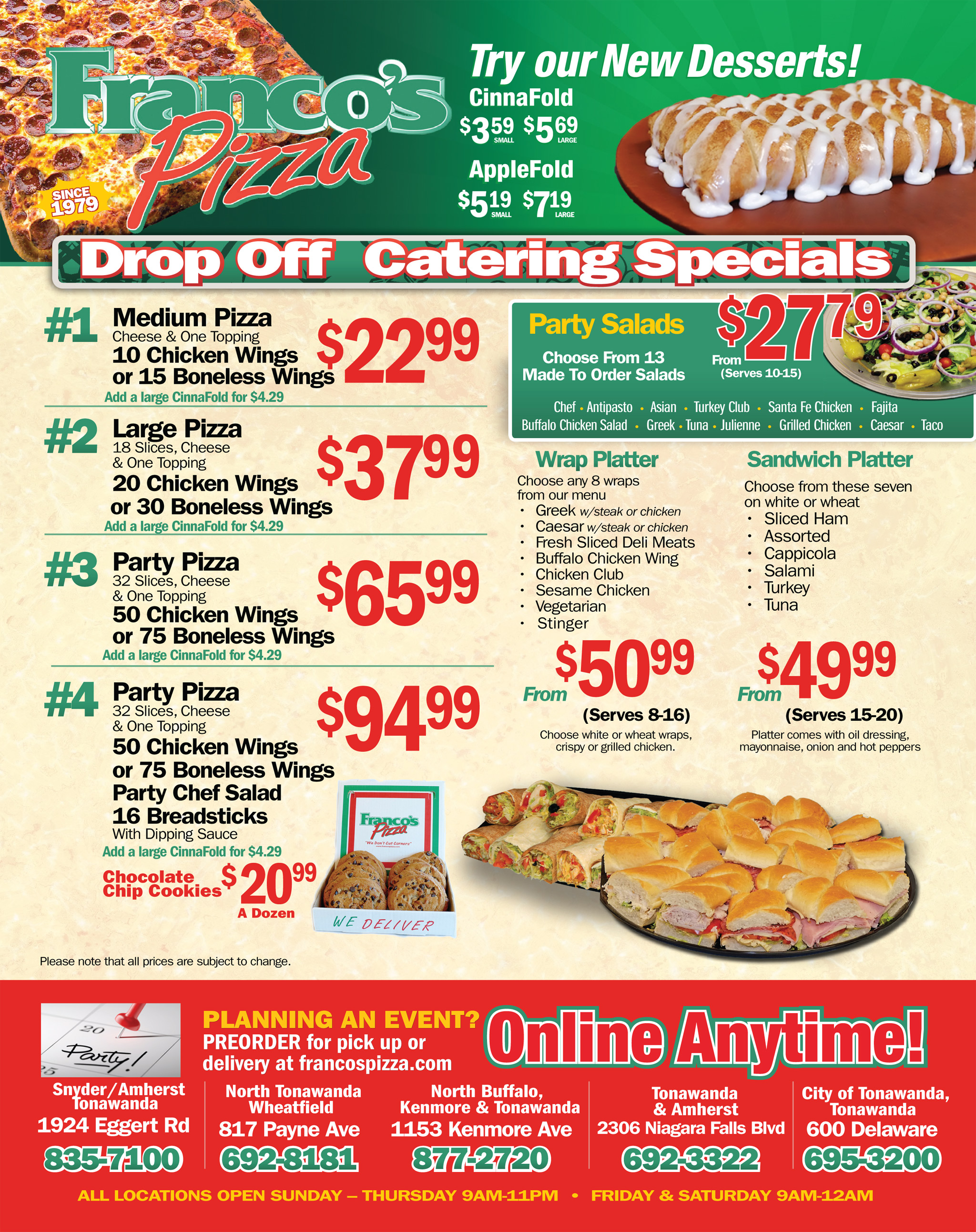 pizza coupons pizza online order party pizza in amherst ny buffalo ny kenmore ny. Black Bedroom Furniture Sets. Home Design Ideas