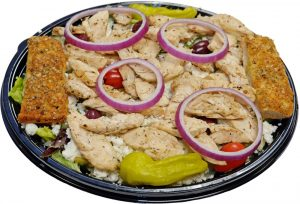 Greek Chicken Salad with Breadsticks 1